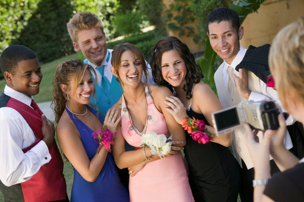 Girls with Wrist Corsages