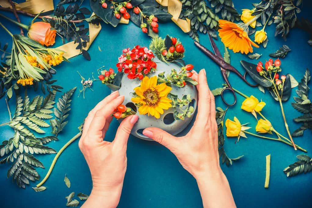 Making a Flower Arrangement