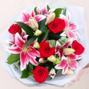 red_rose_and_pink_lilies_